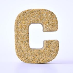すなもじ 「C」 40g×1個 モルタルマジック 砂 置物 オブジェ 砂像 他のメーカー商品との同梱不可 代引不可|gottuou-tottori