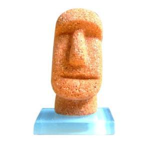 モアイタイル25 オレンジ色 15g×1個 モルタルマジック 砂 置物 オブジェ 砂像 他のメーカー商品との同梱不可 代引不可|gottuou-tottori