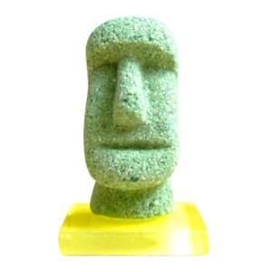 モアイタイル25 グリーン色 15g×1個 モルタルマジック 砂 置物 オブジェ 砂像 他のメーカー商品との同梱不可 代引不可|gottuou-tottori