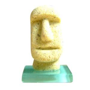 モアイタイル25 イエロー色 15g×1個 モルタルマジック 砂 置物 オブジェ 砂像 他のメーカー商品との同梱不可 代引不可|gottuou-tottori