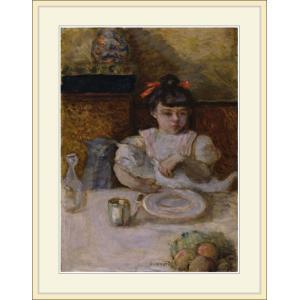 複製画・額縁付き・ボナール・「Child and Cats」|goupil