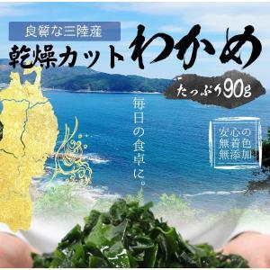 【無添加】国産乾燥カットわかめ/90g 在宅支援