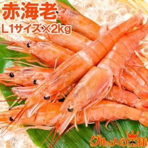 赤海老 赤えび 2kg 超特大 L1 20〜40尾 業務用 1箱 赤エビ あかえび アカエビ 寿司 ...