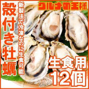 生牡蠣 殻付き 生食用カキ 生牡蠣 12個入り 冷凍殻付き牡蠣 生食用 新製法で冷凍なのに生食可能な殻付き牡蠣で濃厚な風味|gourmet-no-ousama