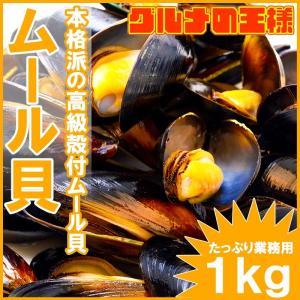 ムール貝 1kg(ボイル 殻つき)|gourmet-no-ousama