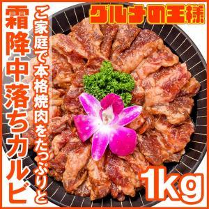 牛中落ちカルビ(味付け)<業務用 合計1kg 500g×2パック> 焼くだけで簡単に本場の味を楽しめ...