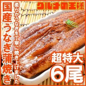 超特大 国産うなぎ蒲焼き 平均250g前後×6尾 タレ付き ...