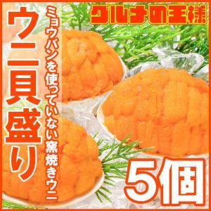 (ウニ うに 雲丹)うに 貝盛り 40g(5個)|gourmet-no-ousama
