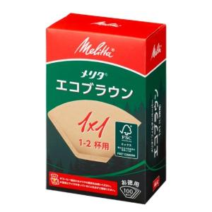 エコフィルターペーパーブラウン1×1G/メリタ(Melitta)|gourmetcoffee
