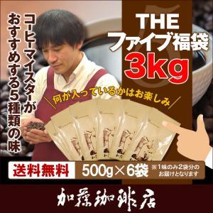 THEファイブ福袋3kg(500g×6袋)/珈琲豆|gourmetcoffee