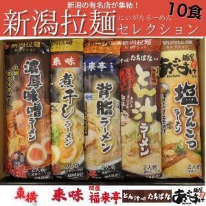 新潟拉麺セレクション10食入り 送料無料(一部地域除く)棒麺 インスタントラーメン お取り寄せ ご当地ラーメン おうちでごはん