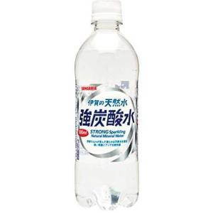 サンガリア 伊賀の天然水 強炭酸水 500ml × 24本 ケース