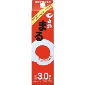 白鶴 まる パック 3000ml 3L 4本 1ケース 清酒 白鶴酒造 goyougura-okawa