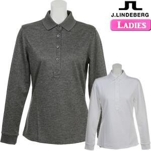 ジェイリンドバーグ J.LINDEBERG レディース 長袖ポロシャツ グレー/ホワイト M/Lサイズ 76wg581285640-072-26910|gp-store