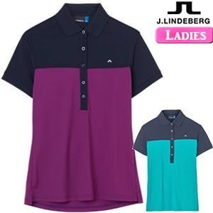 ジェイリンドバーグ J.LINDEBERG レディース 配色切替半袖ポロシャツ W Carin TX Torque 76MG536935088/072-26940|gp-store