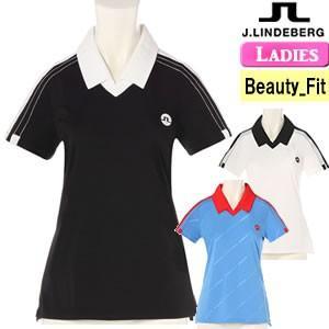 ジェイリンドバーグ J.LINDEBERG スキッパー半袖ポロシャツ レディース 2018モデル 全3色 XS-L(ビューティ-フィット) 072-27340|gp-store