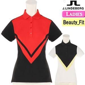 ジェイリンドバーグ J.LINDEBERG 配色切替半袖ポロシャツ レディース 2018モデル 全2色 XS-L(ビューティ-フィット) 072-27341|gp-store
