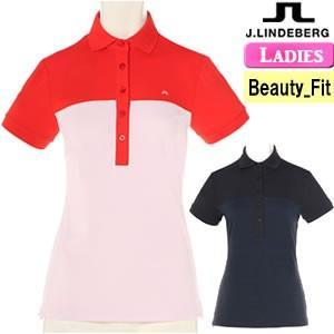 ジェイリンドバーグ J.LINDEBERG 配色切替半袖ポロシャツ レディース 2018モデル 全2色 XS-L(ビューティ-フィット) 072-27342|gp-store