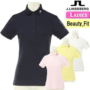 ジェイリンドバーグ J.LINDEBERG 高機能ツアーモデル半袖ポロシャツ レディース 2018モデル 全4色 XS-L(ビューティ-フィット) 072-27441|gp-store