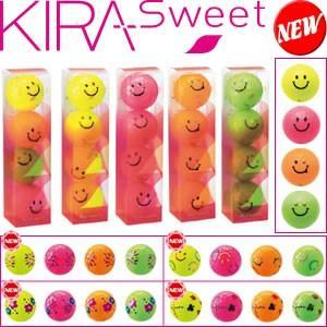 キャスコ KIRA Sweet キラスィートキャラボール 1スリーブ4個入り(KIRAキャラ・花火 ・フラワー・フルキャラ・トランプ)|gp-store