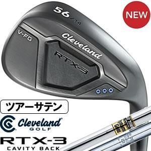 クリーブランド Cleveland RTX-3 CAVITY BACK ブラックサテン ウエッジ DG&NS950GHスチールシャフト|gp-store
