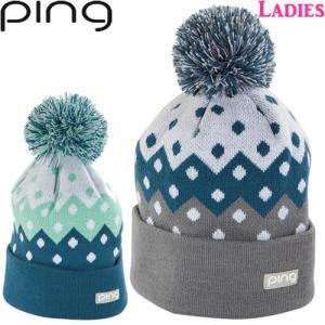 ピン PING レディース配色ドット柄ポンポンニットキャップ Ladies Knit Cup 2018USモデル 全2色 サイズ:フリー png33767|gp-store