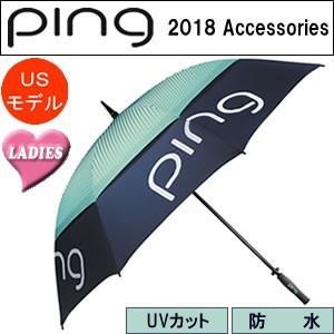 ピン PING レディースアンブレラ パラソル Ladies Umbrella 2018モデル カラー:ネイビー×ミント|gp-store