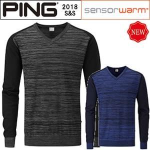 ピンアパレル PING メリノウールVネックセーターノールス KNOWLES 2018春夏 メンズ 全2色 S-XL P03293|gp-store