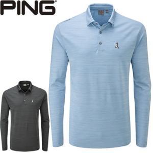 ピン PING ゴルフウェア 吸汗速乾長袖ポロシャツ COREY-J 2019秋冬 メンズ 全2色 S-XL 34880|gp-store