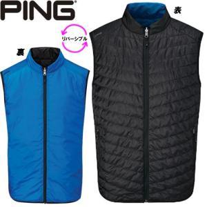 ピン PING ゴルフウェア ノース プリマロフトリバーシブルベスト VEST 2019秋冬 メンズ S-XL ブラック×ブルー P03374|gp-store