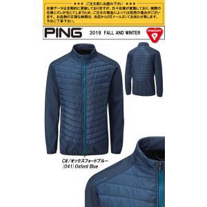 ピン PING ゴルフウェア ノースプリマロフトゾーンジャケット JACKET 2019秋冬 メンズ S-XL オックスフォードブルー P03375|gp-store|02