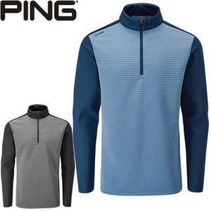 ピン PING ゴルフウェア ニットフリースハーフジップジャケット PHASER 2019秋冬 メンズ 全2色 S-XL P03380|gp-store