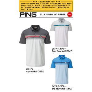 SALE!ピンアパレル PING チェストストライプ半袖ポロシャツ Ridge-J メンズ 全3色 S-XL 34590|gp-store|02
