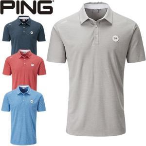 ピンアパレル PING 吸水速乾半袖ポロシャツ Harrison Heather-J 2 メンズ 全4色 S-XL 34593|gp-store