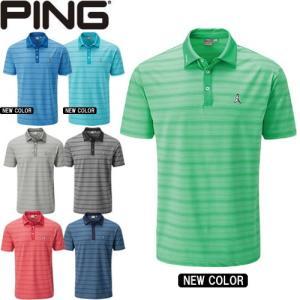 ピン PING ゴルフウェア ユージーン-J杢柄ボーダー半袖ポロシャツ EUGENE-J 2020モデル メンズ S-XL 全7色 34592|gp-store