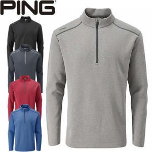ピン PING ゴルフウェア ラムジーフリースストレッチハーフジッププルオーバー RAMSEY 2020モデル メンズ S-XL 全5色 PO3356|gp-store