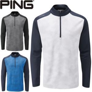 ピン PING ゴルフウェア バーティカル1/2ジッププルオーバー VERTICAL 1/2 ZIP 2020モデル メンズ S-XL 全3色 PO3399|gp-store