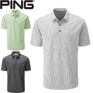 ピン PING ゴルフウェア リニアジャカード半袖ポロシャツ LINEAR JACQUARD 2020モデル メンズ S-XL 全3色 PO3401|gp-store
