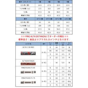 ピン G410 フェアウェイウッド PING オリジナルシャフト ALTAJCBRED TOUR173-65/173-75 ALTADISTANZA 左用選択可 カスタムオーダー|gp-store|06
