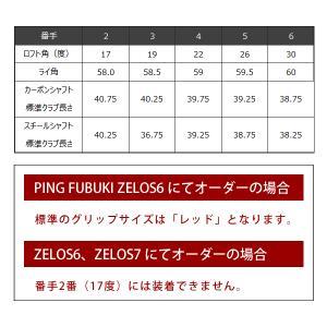 ピン G410 ハイブリッド PING オリジナルシャフト ALTAJCBRED TOUR173-85 PINGFUBUKI カーボン シャフト 左用選択可 カスタムオーダー|gp-store|04