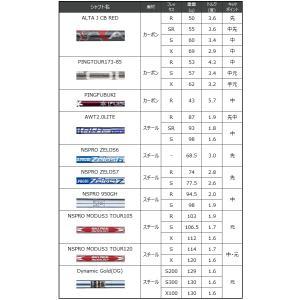 ピン G410 ハイブリッド PING オリジナルシャフト ALTAJCBRED TOUR173-85 PINGFUBUKI カーボン シャフト 左用選択可 カスタムオーダー|gp-store|05