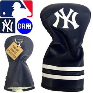 DAIYA CORPORATION ダイヤコーポレーション ニューヨークヤンキース ビンテージドライバー用ヘッドカバーVINTAGE DRIVER (カラー:ネイビー/HC-1001)|gp-store