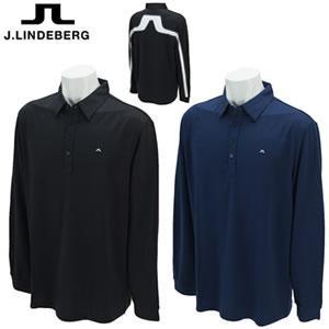 ジェイリンドバーグ J.LINDEBERG C Vilde - Reg Cool Wav 背面ブリッジマーク長袖ポロ 071-27911|gp-store
