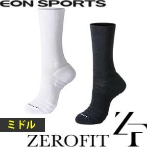 ゼロフィット ミドル丈 ソックス 靴下 プロテクション ZEROFIT PROTECTION イオンスポーツ 【男女兼用】 【メール便対応】|gp-store