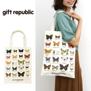 ギフトリパブリック gift republic Butterflies トートバッグ バタフライ【蝶々 バッグ エコバッグ】|gpecoe