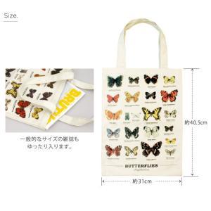 ギフトリパブリック gift republic Butterflies トートバッグ バタフライ【蝶々 バッグ エコバッグ】|gpecoe|04