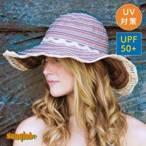 sunglobe サングローブ ツートンリボン キャプリーヌ UVカット 帽子【皮膚がん財団認定/UPF50+】 gpecoe
