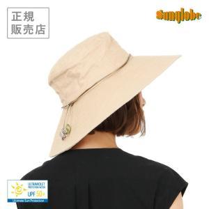 sunglobe サングローブ ワイドブリム リンネル ハット UVカット 帽子【皮膚がん財団認定/UPF50+】 gpecoe