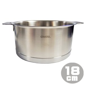 クリステル CRISTEL 鍋 深鍋 Lシリーズ 18cm 2.0L C18QL ステンレス 両手鍋 IH対応 直火対応 ※ふた別売り 送料無料|gport