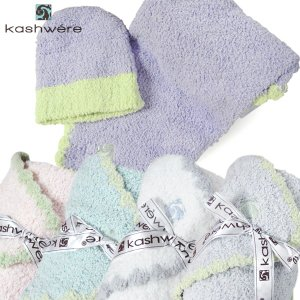 カシウェア Kashwere ベビーブランケット 縁取&キャップ BABY BLANKET TRIM & CAP 5色 BB-67 【熨斗不可】|gport